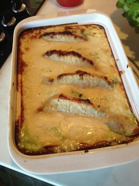 gratin porc figue et sardine