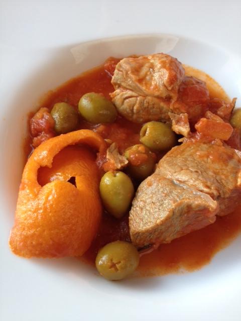saute de veau aux olives et orange