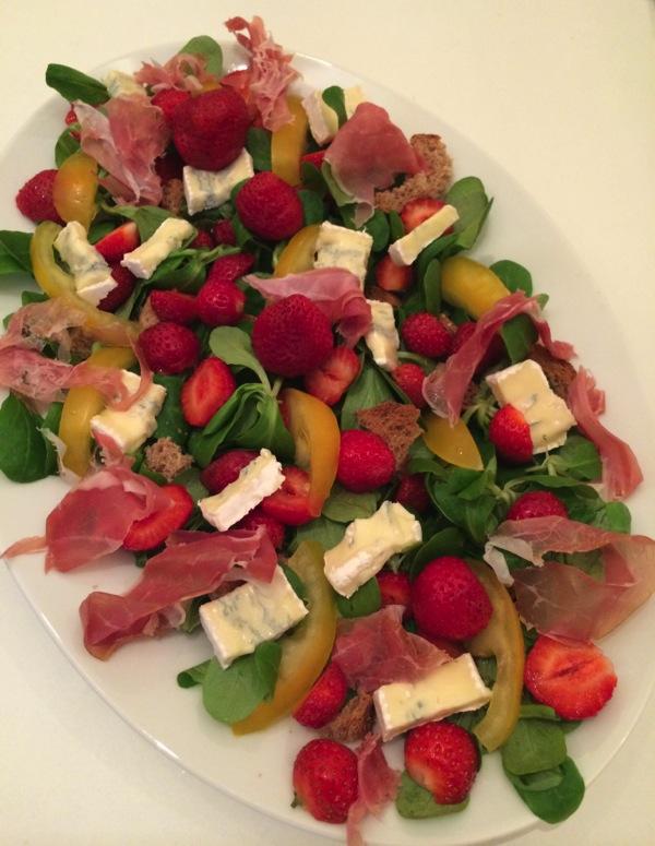 salade fraises