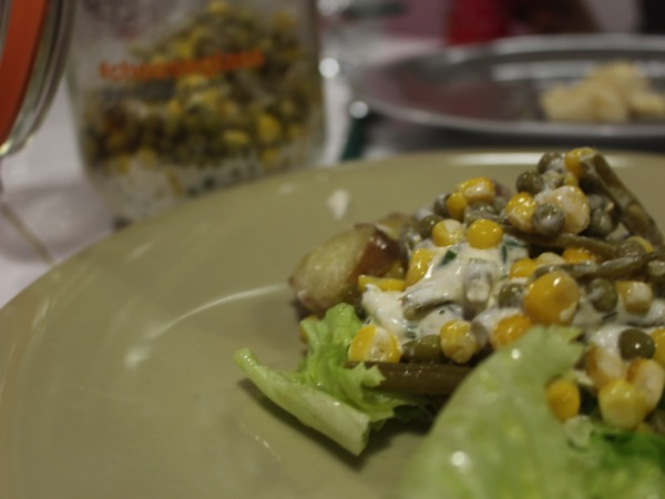 salade dans un bocal