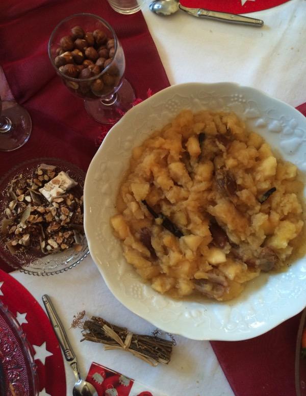 compote de pommes et dattes