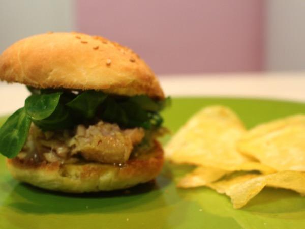 hamburger au thon végie