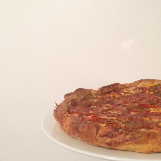 tarte à la tomate et cheddar