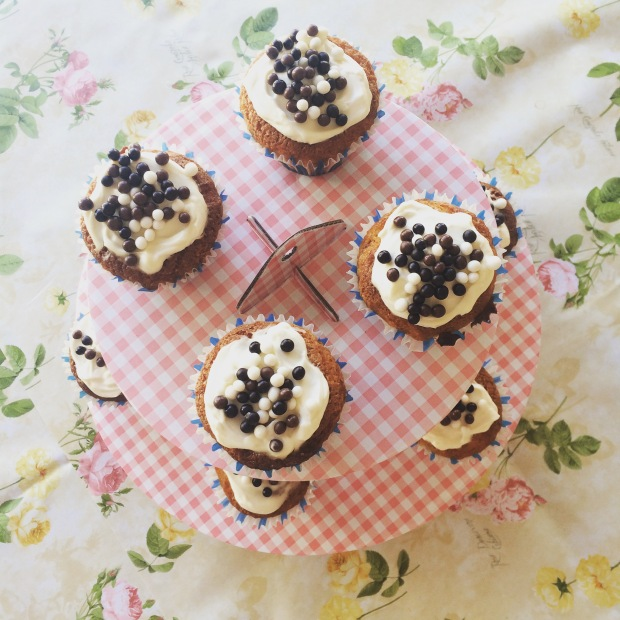 cupcakes noir et blanc