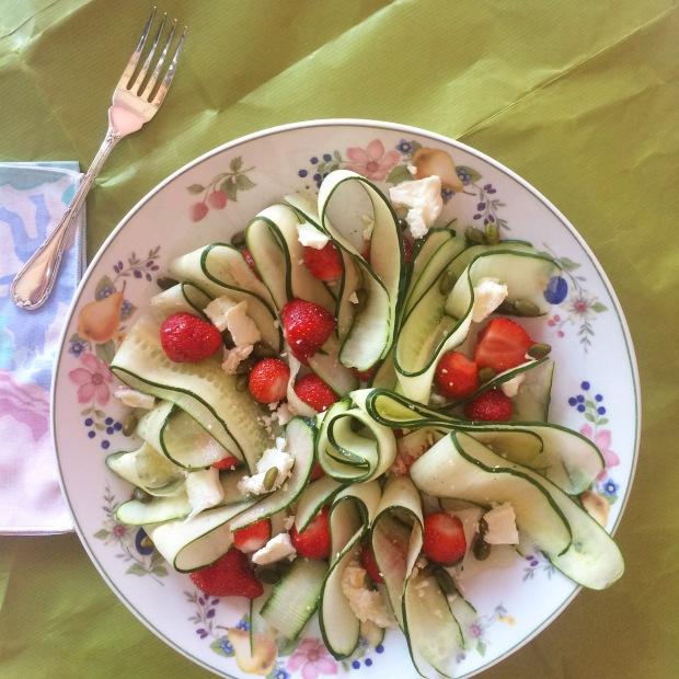 salade concombre fraise