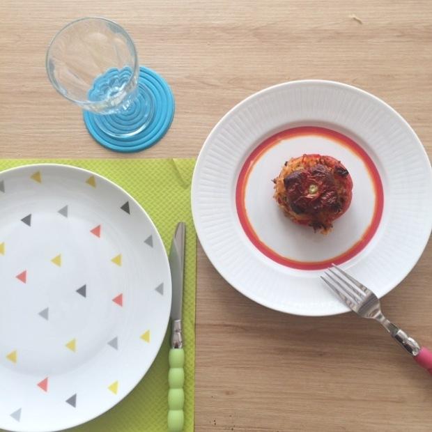 tomates farcies au riz complet