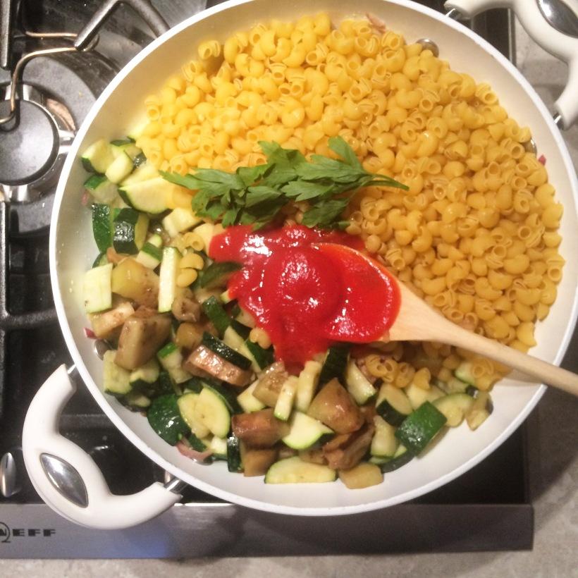 one pot pasta ratatouille